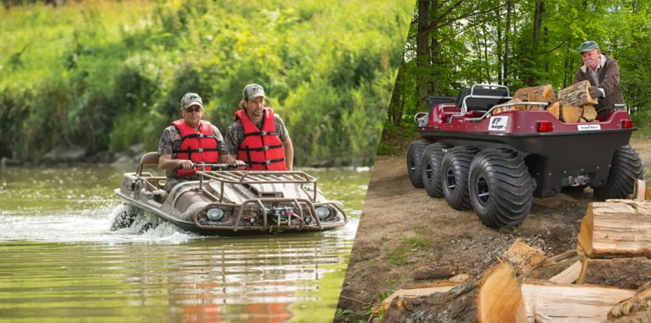 Vysoká mobilita na zemi i ve vodě